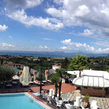 Breathtaking view from the swimming pool of the Montefelice residence